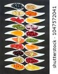super food nutrition concept...   Shutterstock . vector #1047572041