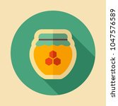 jar with honey icon. farm... | Shutterstock .eps vector #1047576589