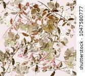 watercolor plant haricot.... | Shutterstock . vector #1047580777