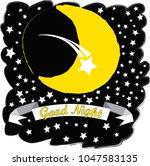 good night.moon and stars...   Shutterstock .eps vector #1047583135