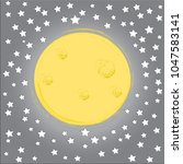 good night.moon and stars...   Shutterstock .eps vector #1047583141