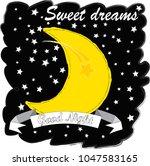 good night.moon and stars...   Shutterstock .eps vector #1047583165