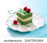 spinach layer cake. | Shutterstock . vector #1047591004