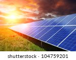 solar panel produces green ... | Shutterstock . vector #104759201