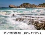 beautiful scenery of seascape...   Shutterstock . vector #1047594931