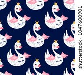 seamless pattern with cute... | Shutterstock .eps vector #1047600901