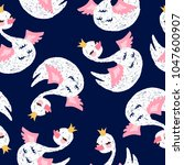 seamless pattern with cute... | Shutterstock .eps vector #1047600907