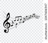 music notes  musical design... | Shutterstock .eps vector #1047606547