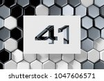 white number 41 on the silver... | Shutterstock . vector #1047606571