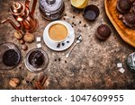 crafting coffee in cup with...   Shutterstock . vector #1047609955