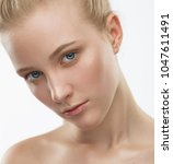 beautiful face woman  has... | Shutterstock . vector #1047611491
