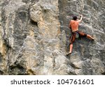 A Young Climber On The...