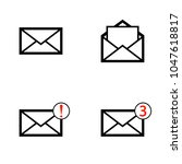 simple envelope mail icon set ...