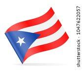 puerto rico flag vector waving...   Shutterstock .eps vector #1047622057