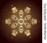 vector christmas abstract... | Shutterstock .eps vector #1047631741