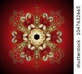 vector christmas abstract... | Shutterstock .eps vector #1047632665