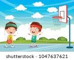 vector illustration of kids...   Shutterstock .eps vector #1047637621