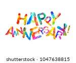happy anniversary. vector... | Shutterstock .eps vector #1047638815
