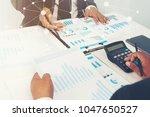business partner marketing team ... | Shutterstock . vector #1047650527