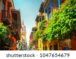 cartagena columbia sights... | Shutterstock . vector #1047654679