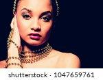 upscale indian woman wearing... | Shutterstock . vector #1047659761