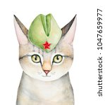 Portrait Of Cat Character...