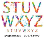 font   colorful letters with... | Shutterstock .eps vector #104765999