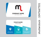 ml or lm business card design... | Shutterstock .eps vector #1047667531