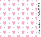 cute seamless vector pattern... | Shutterstock .eps vector #1047675859