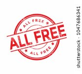 all free rubber stamp isolated...