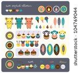 sweet scrapbook collection   Shutterstock .eps vector #104769044