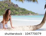 Beautiful Anse Volbert, Praslin, Seychelles, Africa - stock photo