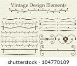 vintage design elements | Shutterstock . vector #104770109