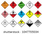 transport hazard pictograms ... | Shutterstock .eps vector #1047705034