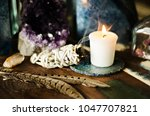 sacred space still life with... | Shutterstock . vector #1047707821