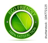 eco friendly label | Shutterstock .eps vector #104772125