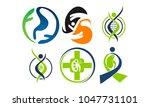 kidney cancer health support set | Shutterstock .eps vector #1047731101
