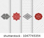 set of seamless geometric... | Shutterstock .eps vector #1047745354