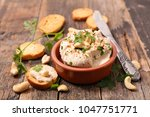 vegan cheese with cashew | Shutterstock . vector #1047751771