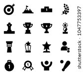 solid vector icon set   target... | Shutterstock .eps vector #1047753397