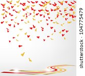 confetti of hearts | Shutterstock .eps vector #104775479