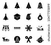 solid vector icon set  ... | Shutterstock .eps vector #1047755899