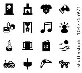 solid vector icon set   first... | Shutterstock .eps vector #1047755971