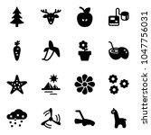 solid vector icon set  ... | Shutterstock .eps vector #1047756031