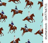 seamless pattern with bay... | Shutterstock .eps vector #1047766711