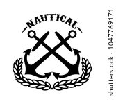 nautical. emblem template with...   Shutterstock .eps vector #1047769171