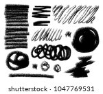 vector pencil  crayon or chalk... | Shutterstock .eps vector #1047769531