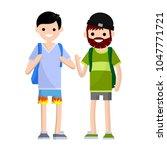 cartoon flat illustration   a... | Shutterstock .eps vector #1047771721