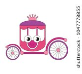 pink princess chariot funny... | Shutterstock .eps vector #1047778855