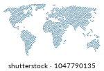 worldwide atlas pattern created ... | Shutterstock .eps vector #1047790135